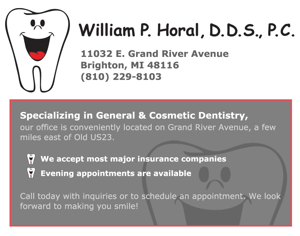 Willim P. Horal, DDS, PC General and Cosmetic Dentistry in Brighton, MI