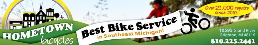 Hometown Bicycles website header