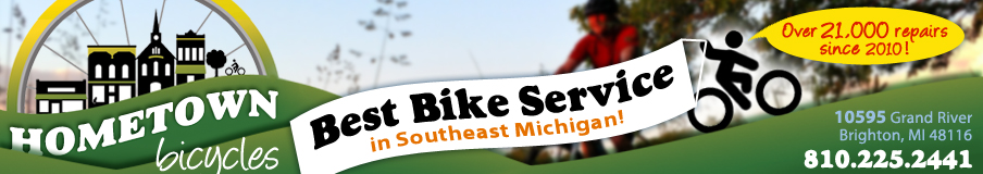 Hometown Bicycles website header